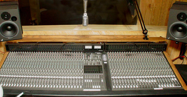 Mackie mixing console in the control room